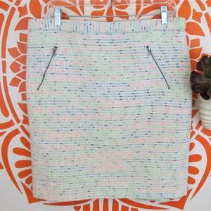 Halogen Creme Cotton Flecked Pencil Skirt 14